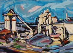 Alfred Sandford Industrial Building No. 1 Flushing Queens Acrylic On Arches