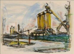 Alfred Sandford Industrial Building No. 2 Flushing Queens Acrylic On Arches