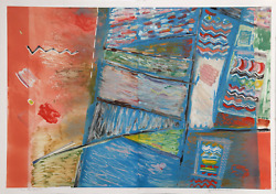 Julie Richman Two Into Three No. 6 Color Monotype Diptych Signed In Pencil