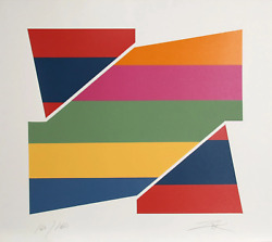 Larry Zox Rotation I Screenprint Signed And Numbered In Pencil
