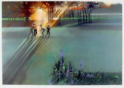 Robert Peak Children Playing Jack Nicklaus Lithograph Signed And Numbered I