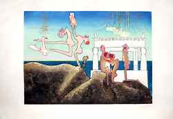 Roberto Matta 10am From Land039arc Obscur Des Heures Aquatint Etching Signed And N