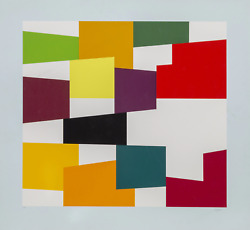 Yaacov Agam Multicolor On White Screenprint Signed And Numbered In Pencil