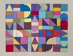Anne Youkeles Summing Up 6 3-d Hand-cast Paper Pulp Collage Signed In Pencil
