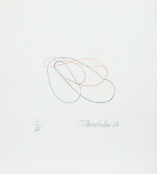 John Chamberlain, Linear Abstract 1, Drypoint And Etching, Signed And Numbered I