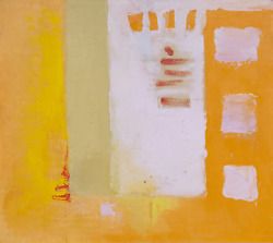 Maud Morgan, Abstraction, Oil On Board, Signed Lower Left