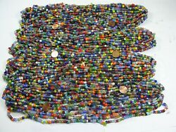 4 Pounds Assorted India Handmade Spacer Glass Beads Wholesale Bulk Lot Td-71