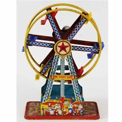 The Giant Ride Ferris Wheel Tin Toy Wind Up 1950's