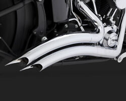 Vance And Hines Big Radius 2 Into 2 Exhaust System Chrome Harley Fatboy 1990-17