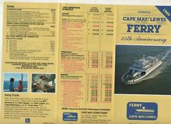 Travel Brochure Schedule For The Cape May N.j. Ferry 25th Anniversary 1989