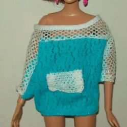 Vintage Barbie Clone Doll Clothes Over Size Shirt T244 $3.99