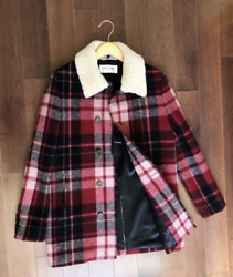 Saint Laurent Checked Trapper Shearling Jacket Size 48