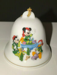 Disney Christmas Bell Ornament Grolier Collectibles Mickey Goofy Donald Duck
