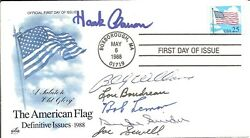 6 Mlb Hofand039ers Aaron Snider Boudreau Sewell Signed First Day Cover With Coa