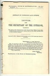 1894 Cmte Public Lands Secretary Interior Letter Abstract Suspended Land Entry