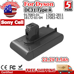 3500mah Battery For Dyson Type A Replace Dc31 Dc34 Dc35 Dc44 Dc45 Animal 22.2v