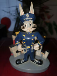 Extremely Rare Looney Tunes Bugs Bunny Bad Ass City Police Cop Figurine Statue