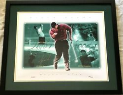 Tiger Woods Signed Autographed Auto 2000 2001 Slam 16x20 Photo Poster Framed Uda