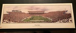 Joe Paterno Signed Panoramic Poster Penn State Nittany Lions 27x9.5 W/ Proof