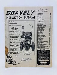Vintage Rare Gravely Tractor Model L Instruction Manual Book