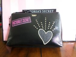 New with tags Victoria Secret cosmetic bag color black $17.00