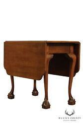 Suters Vintage Chippendale Style Walnut Ball And Claw Drop Leaf Table
