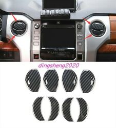 Carbon Fiber Style Central Control Outlet Air Vent Cover For Toyota Tundra 14-20