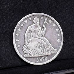 1872-s Liberty Seated Half Dollar - Ch Xf Details 33873