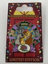 Lady And The Tramp Pop Century Resort Happy Holiday 2020 Wreath Le Disney Pin