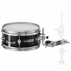 Pearl 10x4quot; Short Fuse 6 Ply Poplar Jet Black Snare Drum
