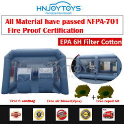 Portable Paint Spray Mobile Booth Inflatable Tent Car Paint Cabin Include Blower
