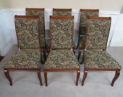 Ethan Allen Dining Chairs, Set Of Six, Side Chairs, Upholstered