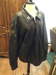 Vtg Wwii Painted Jacket Liberty Belle U.s. Army Air Force Bomber Reproduction