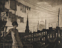 Martin Lewis The Glow Of The City 1929 Archival Quality Art Print