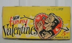 Vintage Topps Bubble Gum New Funny Valentines Trading Cards Box Empty