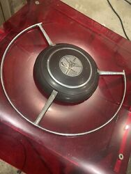 1939 Dodge D11 Coupe Steering Wheel Horn Button And Bezel For Steering Wheel