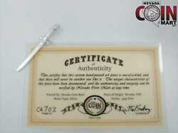 Official Nevada Coin Mart 999 Silver Model 1832 Sword One-of-a-kind Ncm Ca703