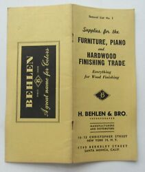 H.behlen And Bros Supplies For Furniture Piano And Hardwood Finishing Trade List 1