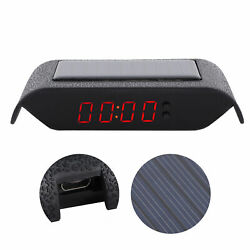 Digital LCD Table Car Dashboard Desk Time Display Small Clock Alarm Thermometer