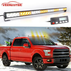36amber/white Emergency Strobe Warning Light Bar With Display Screen Controller