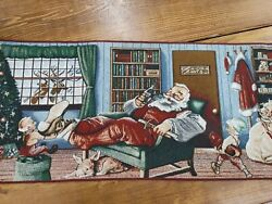 Coca Cola Christmas Fabric Tapestry Table Runner 75 By 13 - So Much Detail
