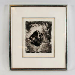 Marc Chagall Signed Lithograph Print Plate 6 Of The Fables Of La Fontaine A ...