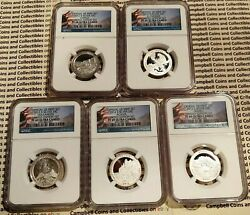 2012 Us Mint Limited Edition Silver Proof 7-coin Set Ngc Pf69 And Pf68 No Eagle