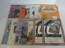 N Antique Sheet Music Song Book Hge Lot Over 300 1930s 40s 50s Broadway Film+