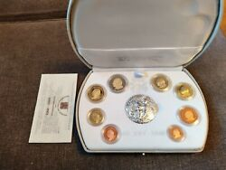 Vatican 2003 Proof - Euro Serie - 1c-2€, 8 Coins And Silver Medal