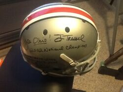 Jim Tressel And Urban Meyer Signed Full Size Ohio State Helmet W/ Championships