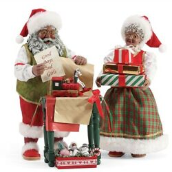Department 56 Possible Dreams Wrapped And Ready African American Santa Set