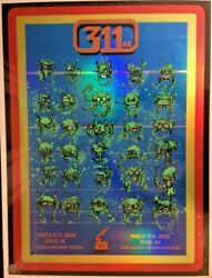 2020 311 Boise Reno 80's Space Invaders Arcade Foil Concert Poster /40 4/6 4/7