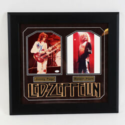 Led Zeppelin Signed Photo Display Robert Plant And Jimmy Page Andndash Coa Jsa