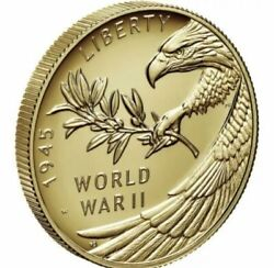 End Of World War Ii 75th Anniversary 24-karat Gold Coin And Silver Medal 11/9